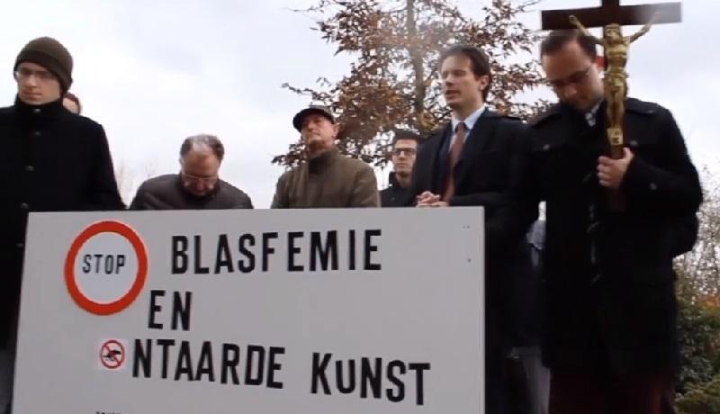 Belgia: bluźniercza instalacja w kościele. Problemem są jednak protestujący katolicy
