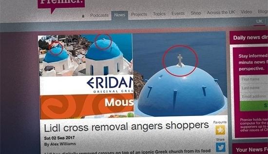 """Wymazywanie krzyża, promocja halloween. Oto sieć handlowa """"neutralna"""" religijnie"""