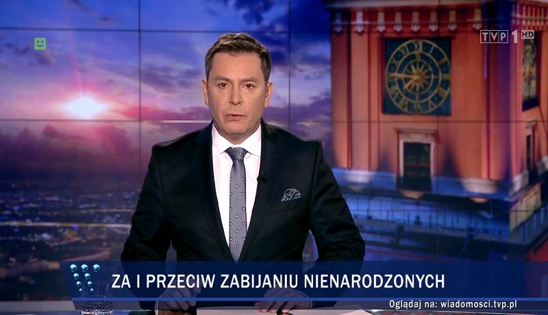 """""""Wiadomości"""" TVP: obrona życia? Tak, ale """"krwawy kompromis"""" jest lepszy..."""