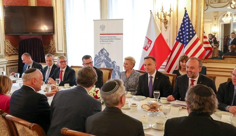 Prezydent Duda rozmawiał w Nowym Jorku z organizacjami żydowskimi