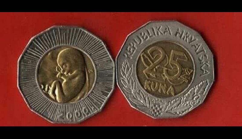 Monety z wizerunkiem nienarodzonego dziecka. Jak szanuje się życie w Chorwacji
