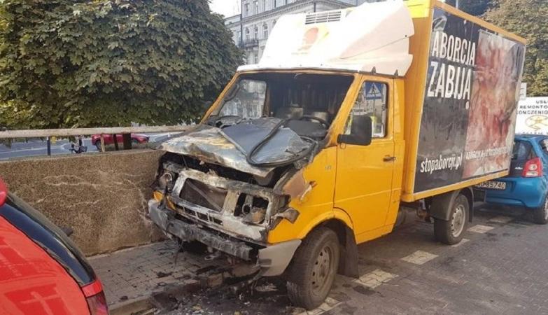 Zwolennicy aborcji niczym terroryści. Spalony samochód Fundacji Pro-Prawo do Życia